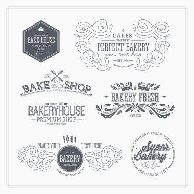 Set of bakery and bread logotypes.