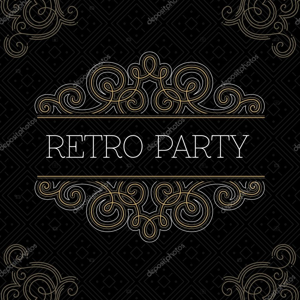 Retro party invitation. — Stock Vector © adehoidar #72122963