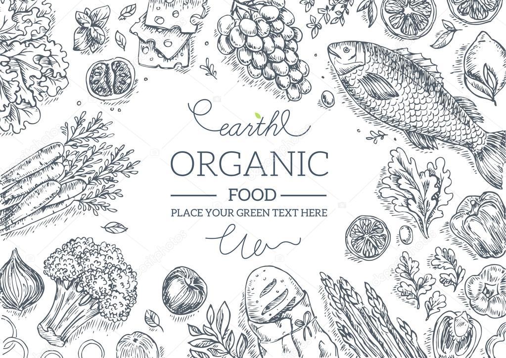 Healthy Vegetables Frame.