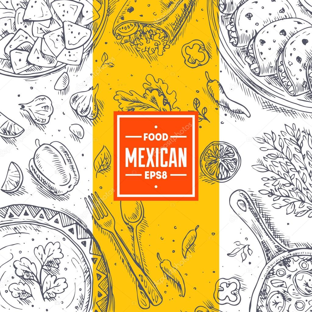 Mexican Food Frame.