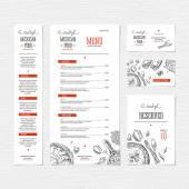 Fotografie Restaurant menu template