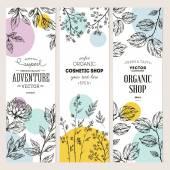 Kolekce botanických banner
