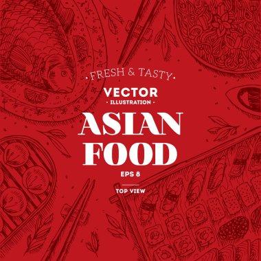 Asian Food Frame