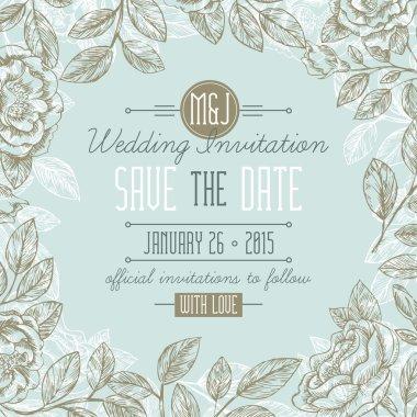 Classic Floral Wedding Invitation