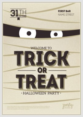 Halloween Party Poster. Mummy