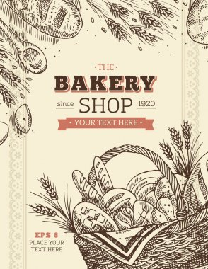 Vintage Bakery Card