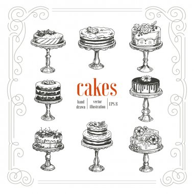 Cakes vintage collection