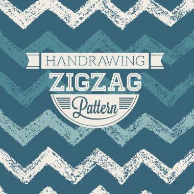 Handrawing Zigzag Pattern