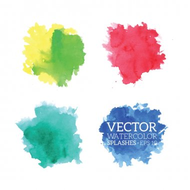 Colorful Watercolor Splashes. Vector illustration stock vector
