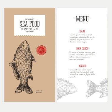 Carp Fish reastaurant menu