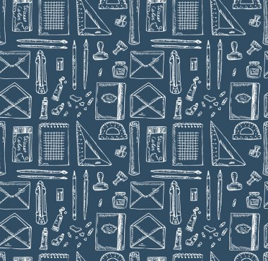 Stationery Seamless Pattern
