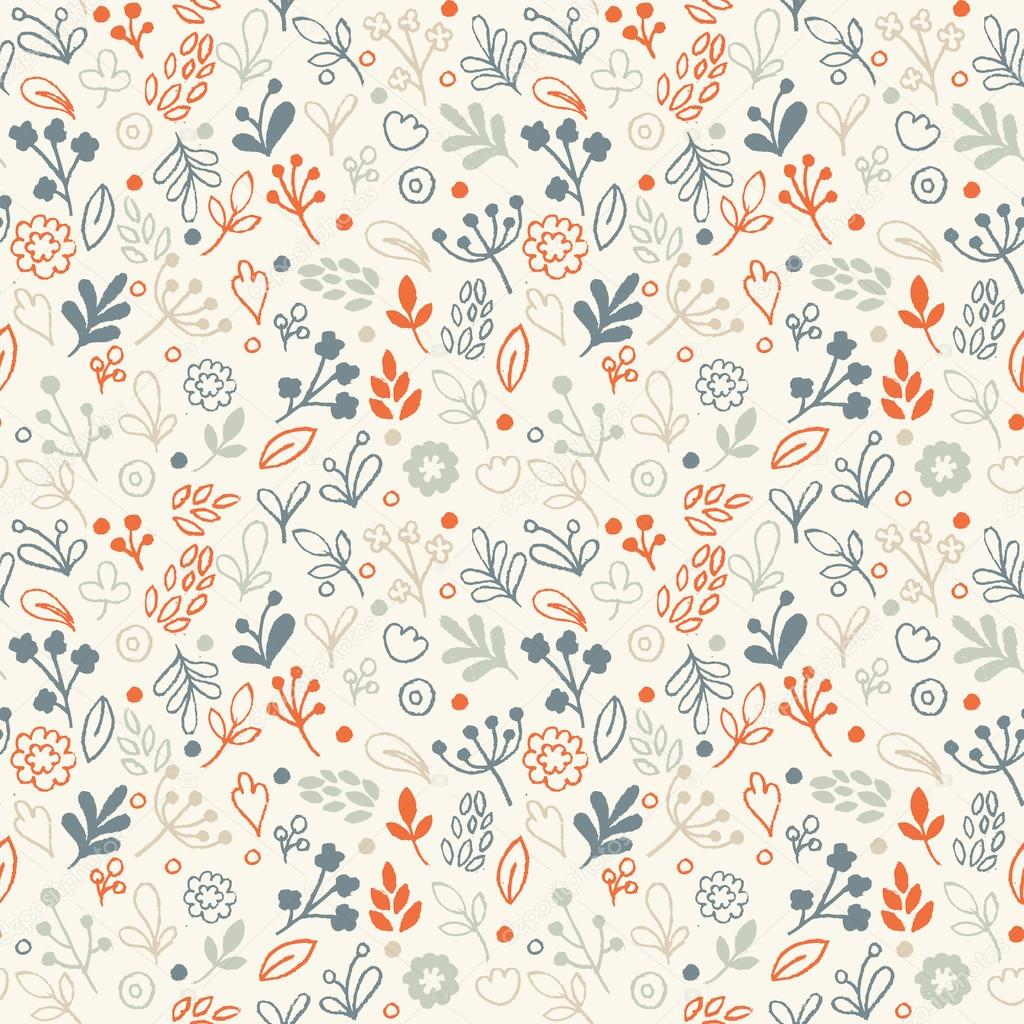 Hand Drawing Floral Pattern