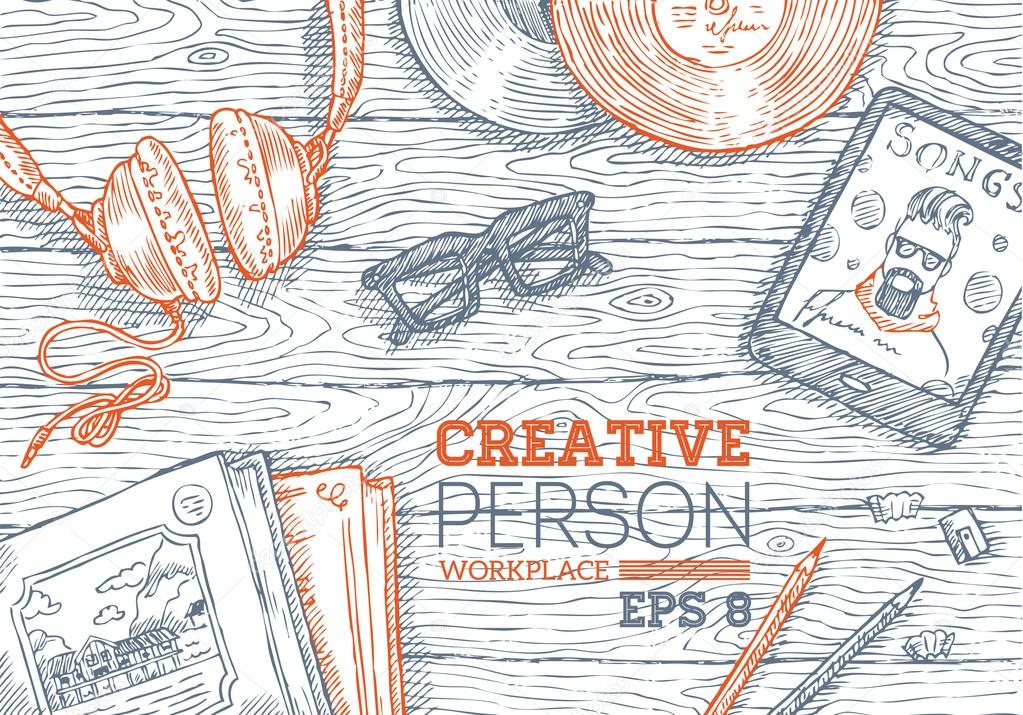 Creative Person Workplace