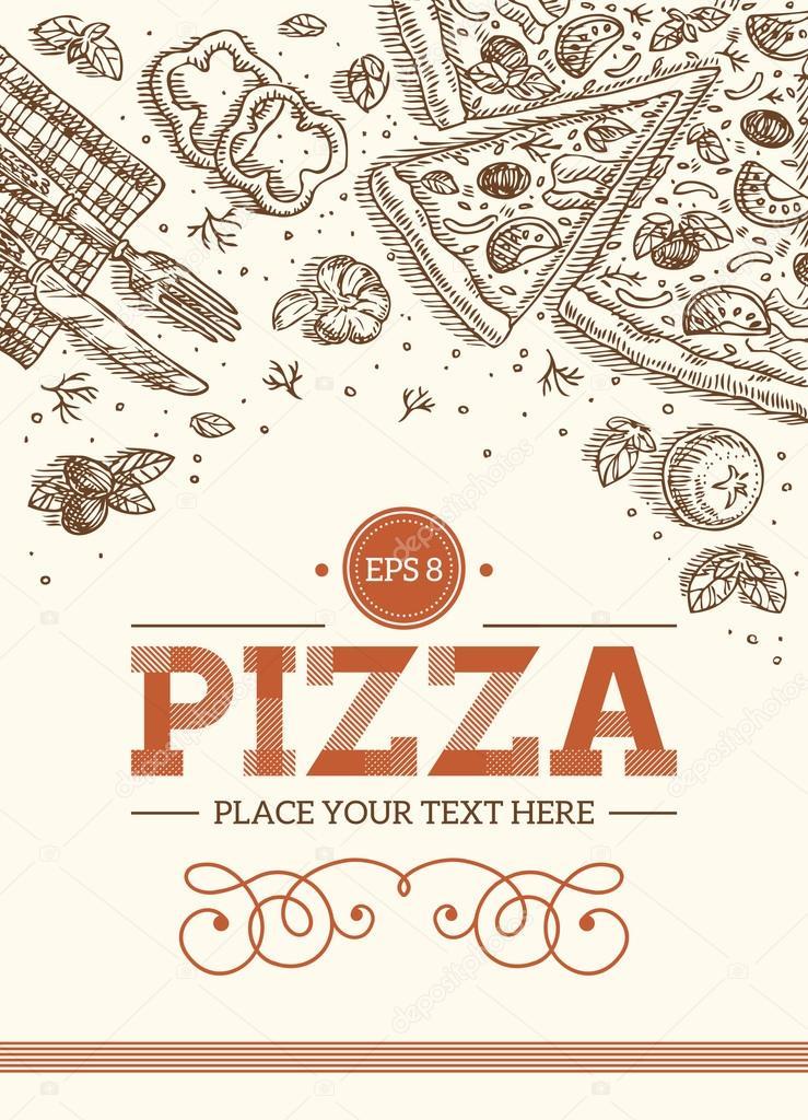Plantilla retro Pizza — Vector de stock © adehoidar #80109328