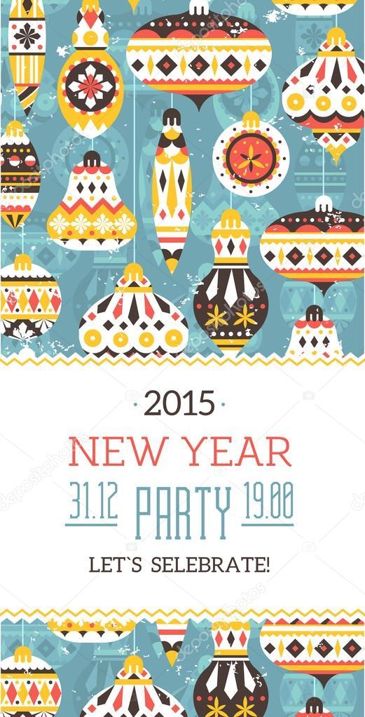 New Year Invitation Card