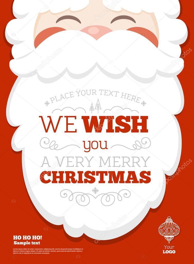 Santa Christmas Greeting Poster