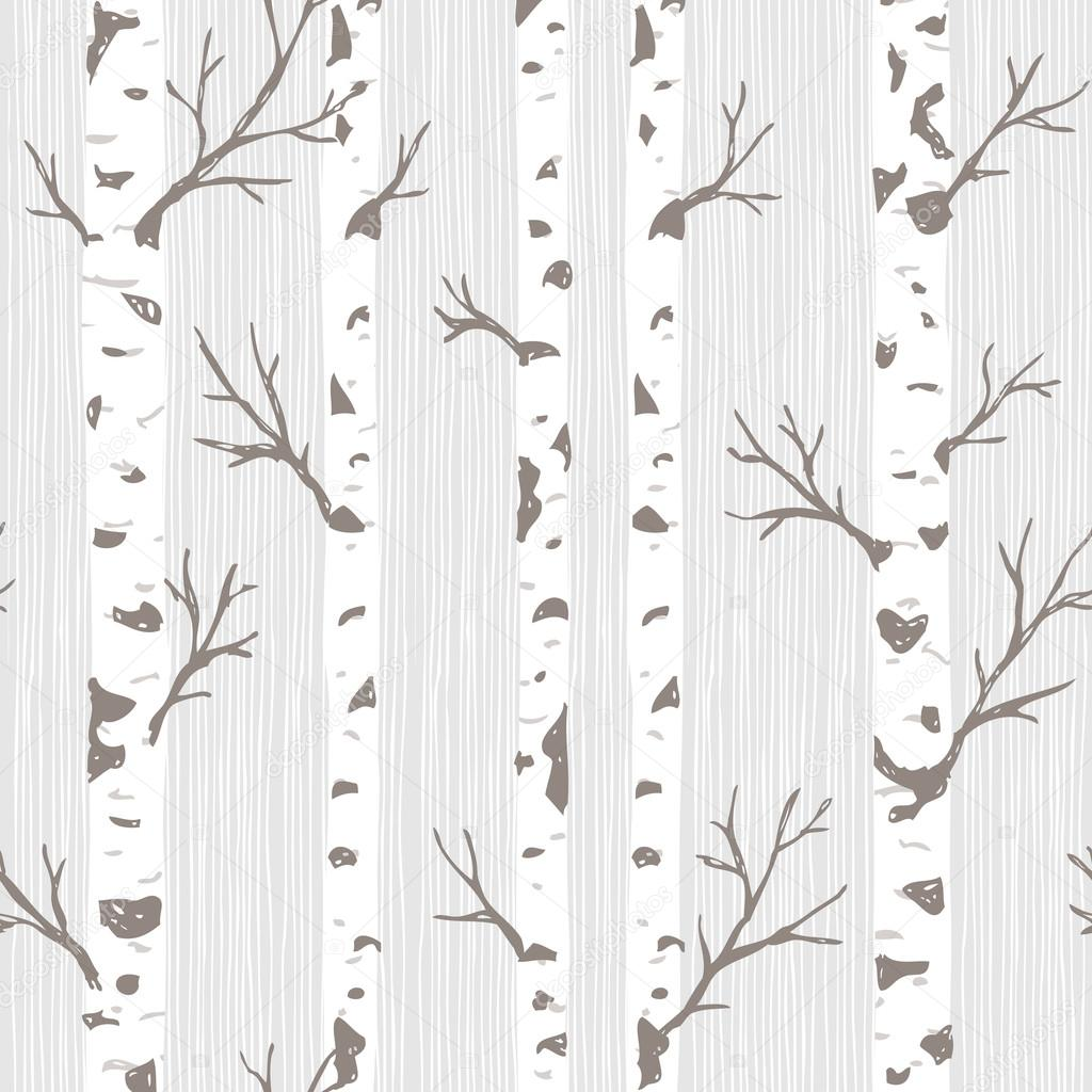 Beautiful Birch Tree Pattern — Stock Vector © adehoidar #80109908 BJ41