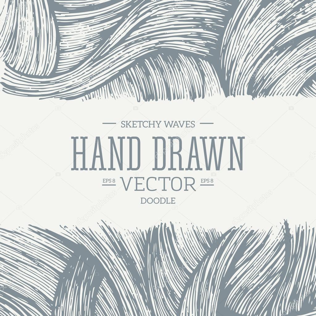 Doodle waves design template — Stock Vector © adehoidar #80109972
