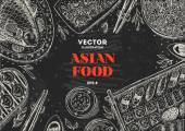 Asijské potraviny křídové desky rámec