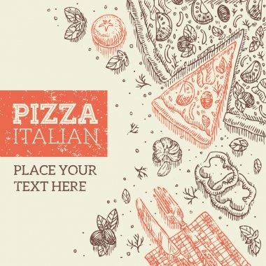 Retro Pizza Template