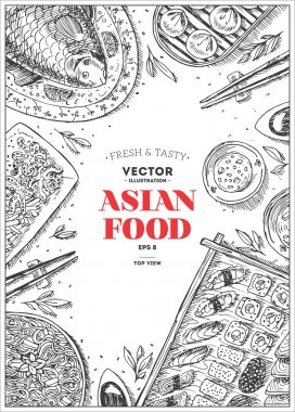 Vertical Asian Food Frame