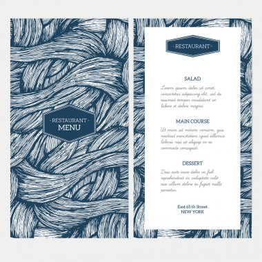 Doodle waves menu template