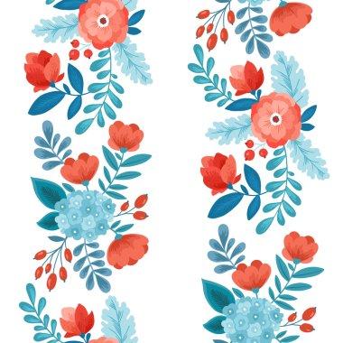 Fun Flowers seamless pattern