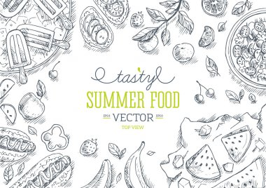 Summer Food Frame