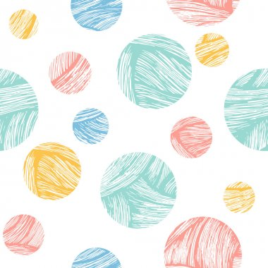 Doodle circles fun background