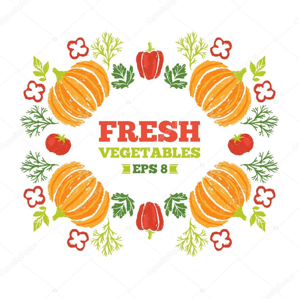 Alrededor de verduras saludables composición — Archivo Imágenes ...