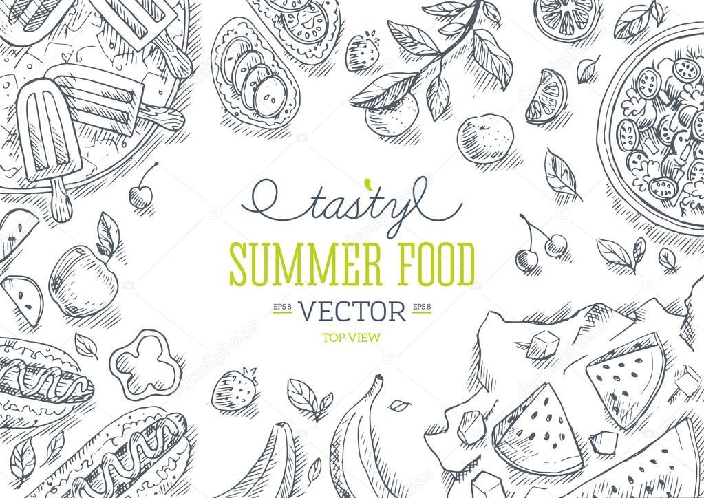 Summer Food Frame