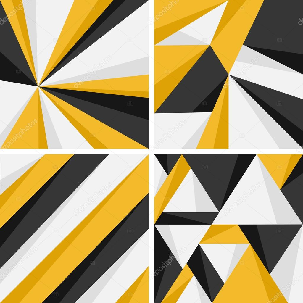 Abstract geometric background collection