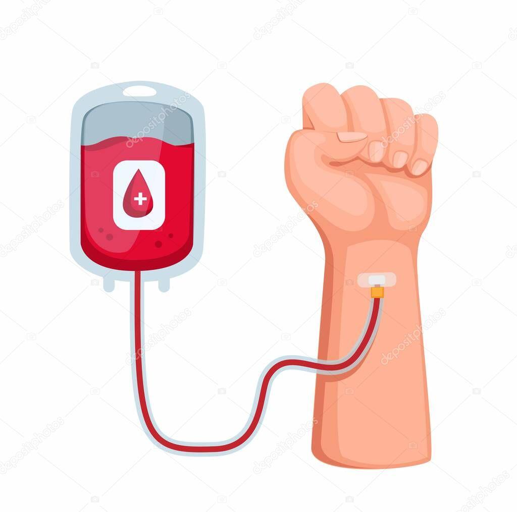 Donation blood icon
