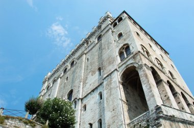 Historic palace in Gubbio town Umbria
