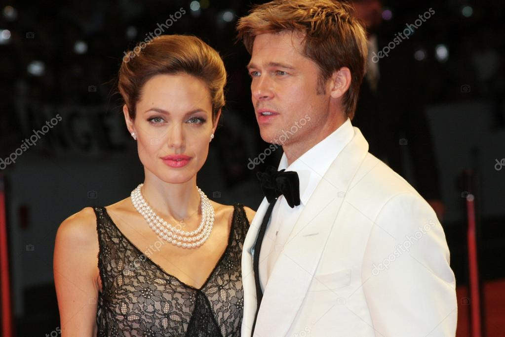 VENICE - SEPT 2: Angelina Jolie and Brad Pitt attends the premiere of