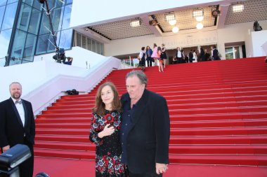 Gerard Depardieu and Isabelle Huppert