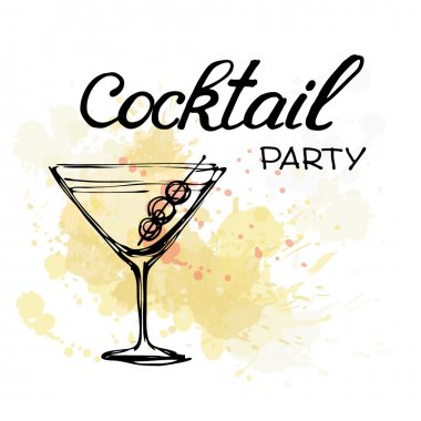Cocktail Party Invitation Poster