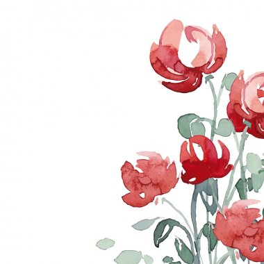 Watercolor peonies greeting card.