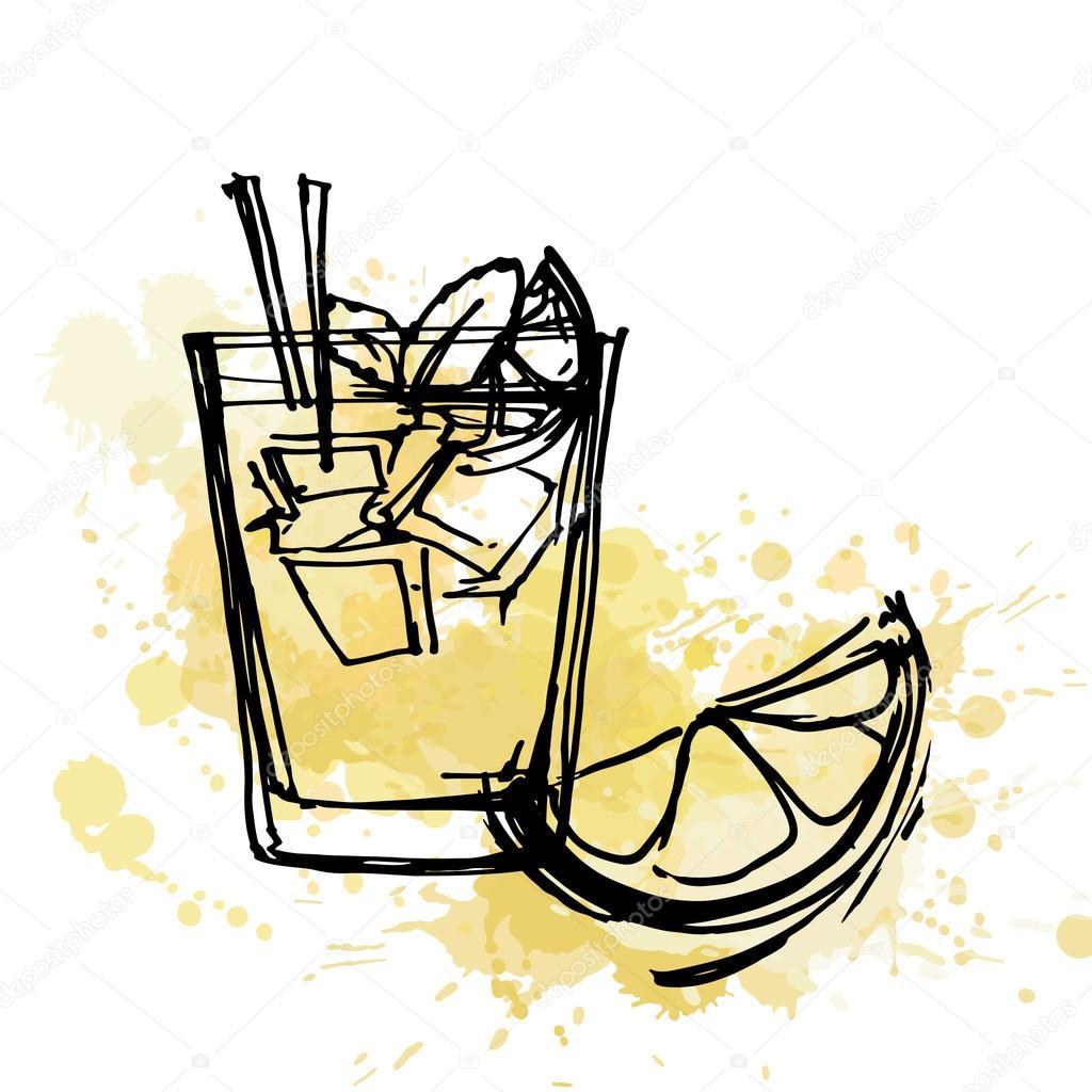 Cartoon Glass Of Lemonade