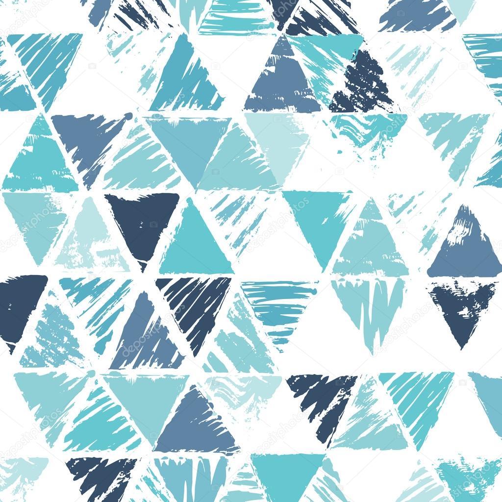 Grunge triangle background