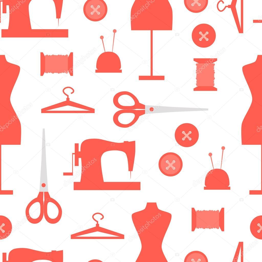 Patrones de costura descargar | patrones sin fisuras con iconos de ...