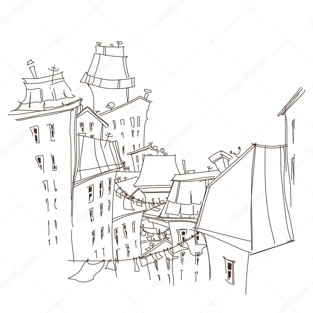 Carte De Ville Noir Et Blanc Dessin Animé Image