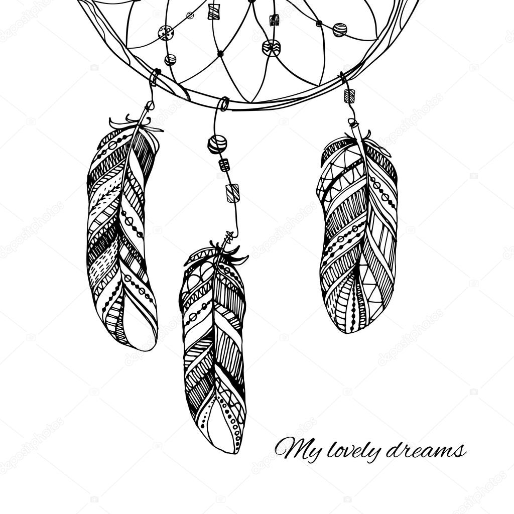Hand Drawn Dream Catcher Stock Vector Ota 85193486