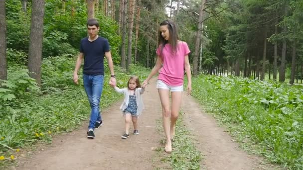 családi séta a parkban