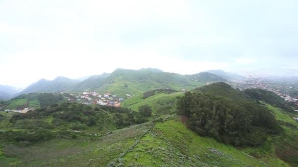Vesnice ve Španělsku pohled, Kanárské ostrovy, Tenerife