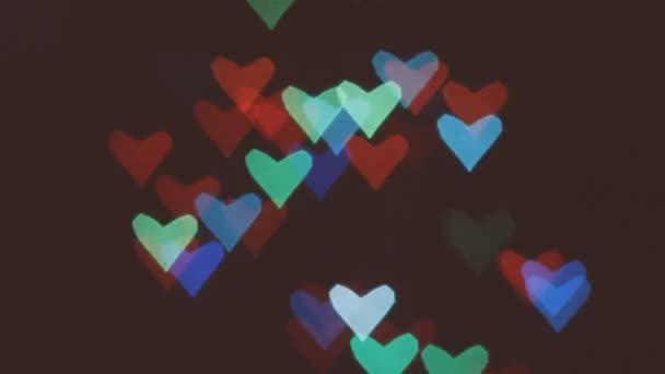 srdce bokeh pozadí