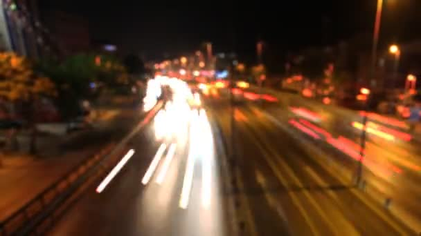 Rozmazané timelapse noční provoz
