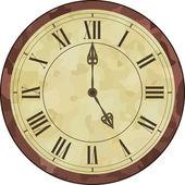 Fotografie Antike römische Ziffer Uhr