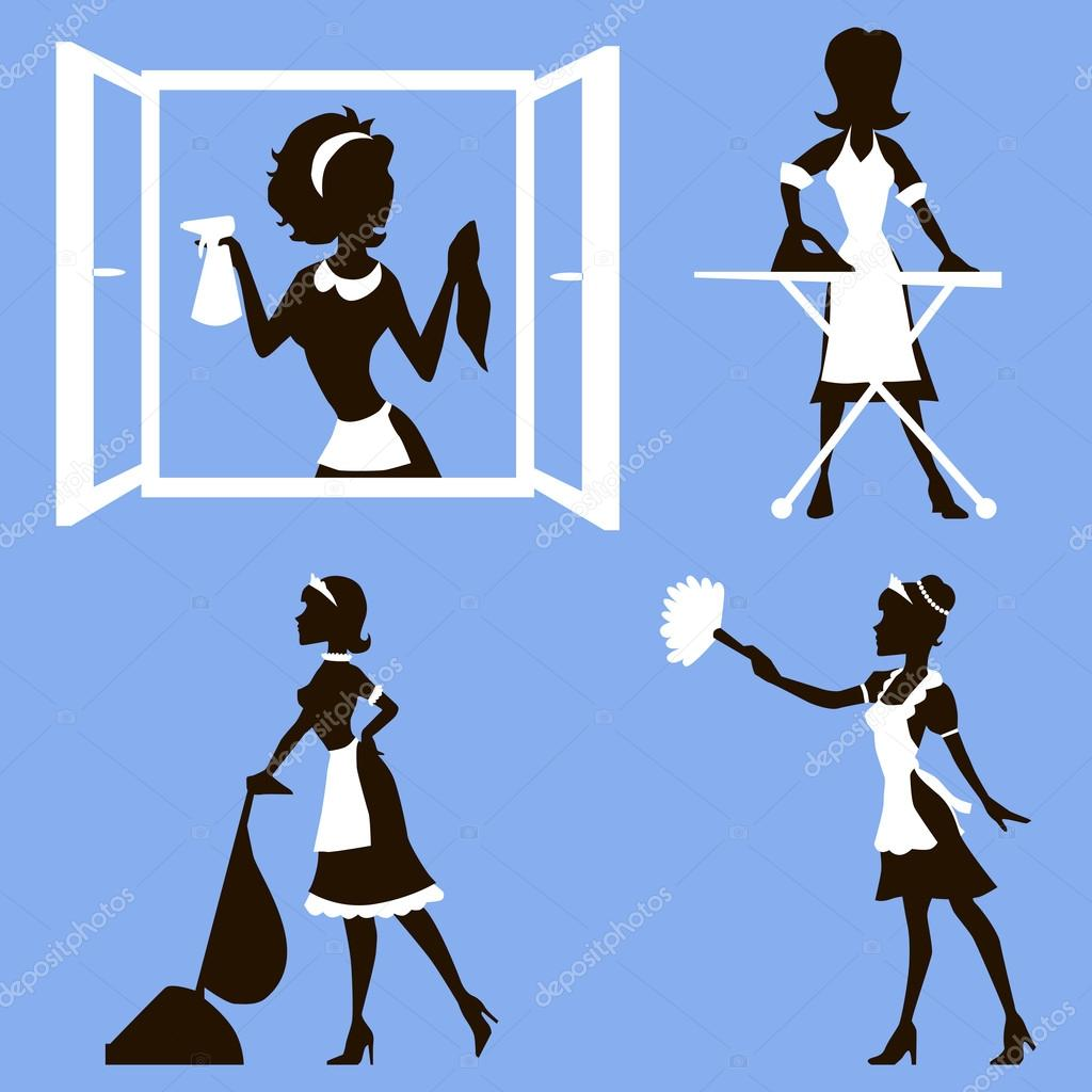 Cleaning Lady Stock Vectors Royalty Free