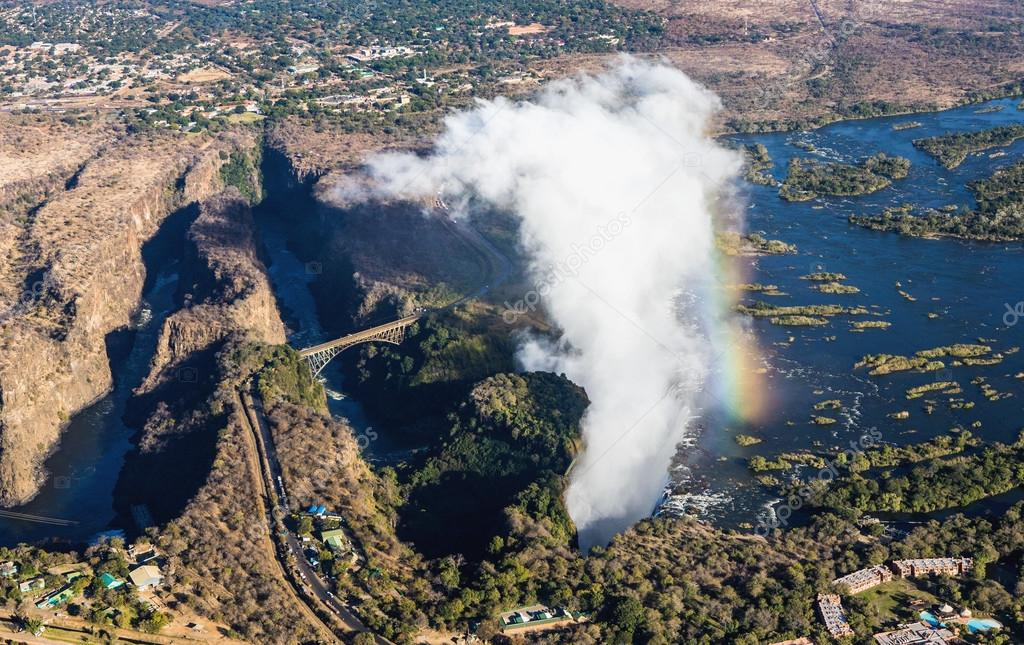 Victoria Falls and surrounding area in National park